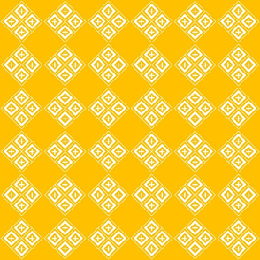 Tiled Diamond Crosses on Gold