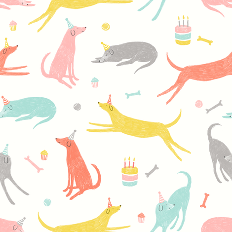 Dog Party fabric by allierunnion on Spoonflower - custom fabric