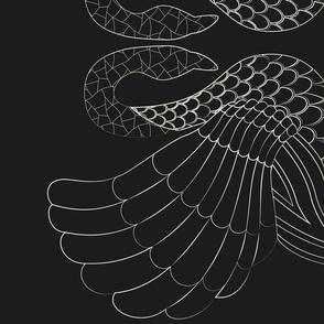mtm 142cmx1meter, blouse-art-swans, black