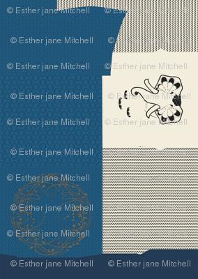 mtm 142cmx2meter, sweater; celtic tree, blue -blouse; art-elephant with celt chain pearls