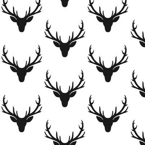 Black Deer Antlers – Woodland Baby Nursery Kids Children Baby Boy Bedding B