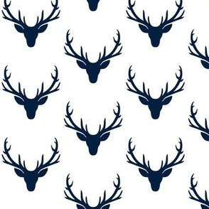 Navy Deer Antlers – Woodland Baby Nursery Kids Children Baby Boy Bedding B