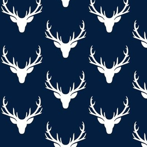 Navy + White Deer Antlers – Woodland Baby Nursery Kids Children baby Boy Bedding B