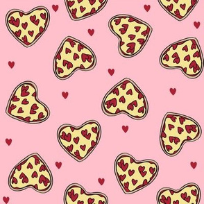 pizza heart // valentines day love pizza slices foodie fabric pink