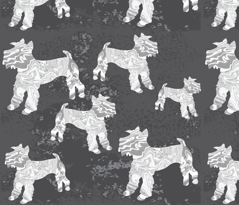 Mini Schnauzers fabric by owlandchickadee on Spoonflower - custom fabric