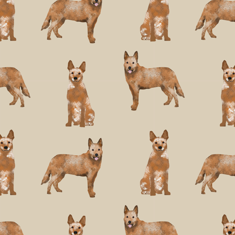 australian cattle dog red heeler simple dog breed fabric beige fabric by petfriendly on Spoonflower - custom fabric
