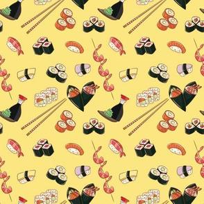 Sushi on Daikon