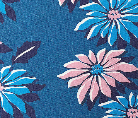 Poinsettias* (Blue & Pink) || jumbo poinsettia flower flowers floral vintage retro stripes Christmas holiday plant nature decor tradition large format scale linens tablecloth kitchen