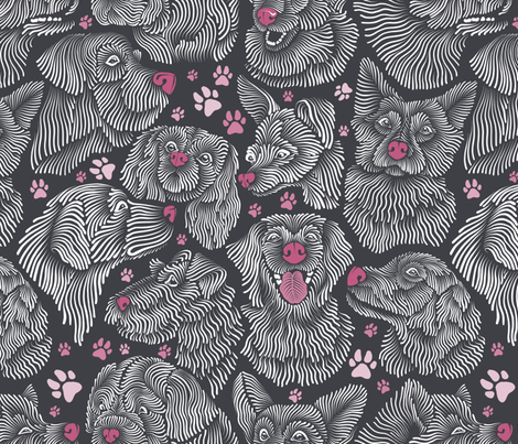 Lovely Dogs fabric by torysevas on Spoonflower - custom fabric
