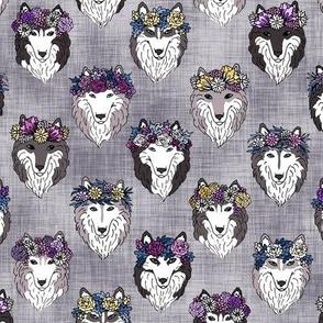 Floral Huskies