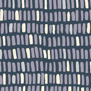 stacks in rows - lavender