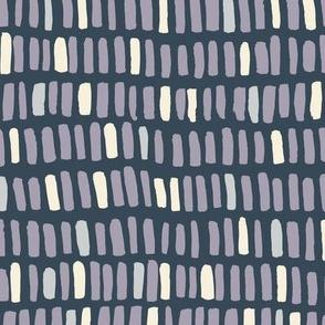 stacks in rows - lavender