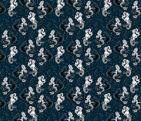 Pearla the Mermaid- SMALL fabric by miss_fluff on Spoonflower - custom fabric