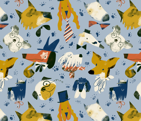 gentledogs fabric by daria_nokso on Spoonflower - custom fabric