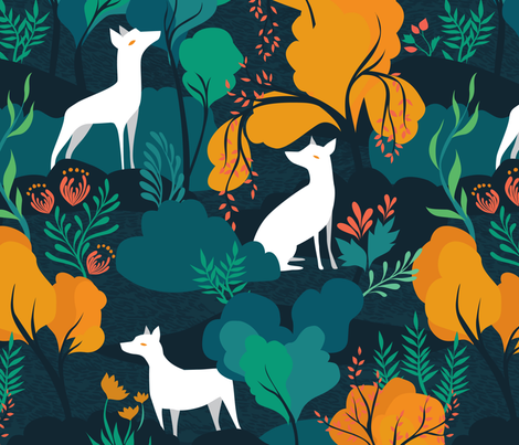 The Wild fabric by ceciliamok on Spoonflower - custom fabric