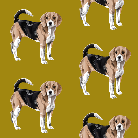 Beagle fabric by taraput on Spoonflower - custom fabric