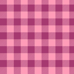 "3/4"" Raspberry + Pink Buffalo Plaid – Lumberjack Buffalo Check Baby Girl"