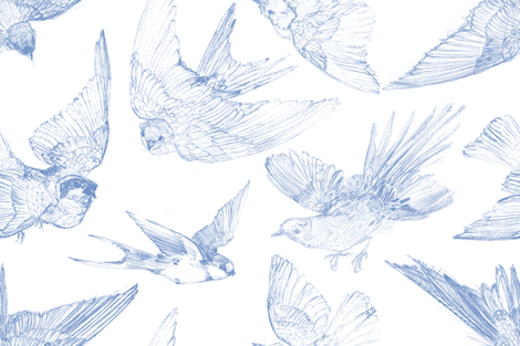 Flight blueberry fabric by lilyoake on Spoonflower - custom fabric