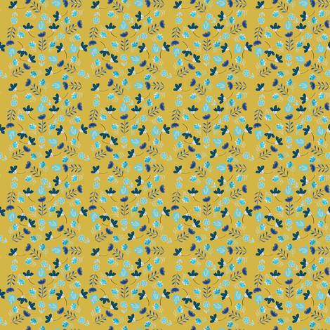 GIALLO_FIORI MARCH17 fabric by jdeebella on Spoonflower - custom fabric