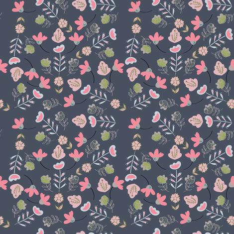 grigio fiori p fabric by jdeebella on Spoonflower - custom fabric