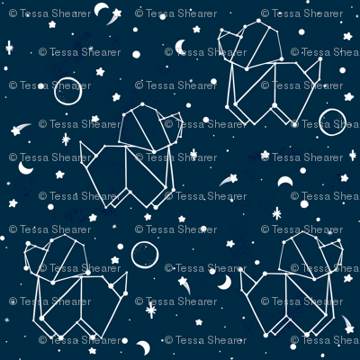 A Dog Constellation - Blue