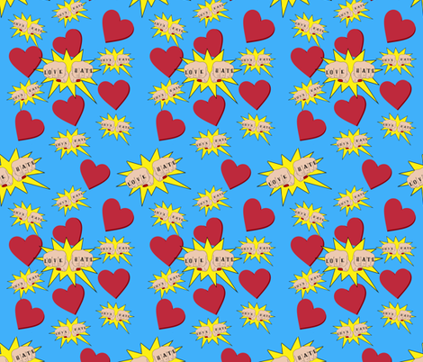 Love Hate Tattooed Knuckles fabric by veata_atticus_store on Spoonflower - custom fabric