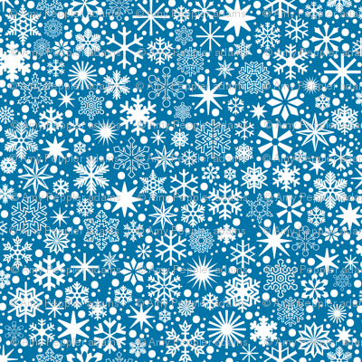 Let It Snow!* (Blue Liz)    snowflakes ditsy star stars winter Christmas holiday