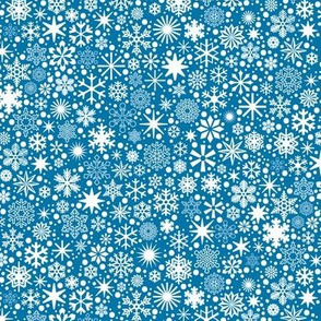 Let It Snow!* (Blue Liz) || snowflakes ditsy star stars winter Christmas holiday
