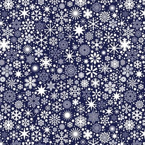 Let It Snow!* (Jackie Blue) || snowflakes ditsy star stars winter Christmas holiday