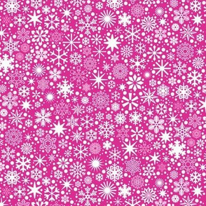 Let It Snow!* (Pink Riot) || snowflakes ditsy star stars winter Christmas holiday