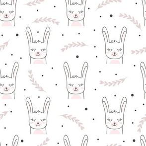 Scandinavian Pink Bunnies