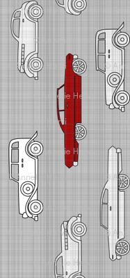 Linen Retro Cars 90