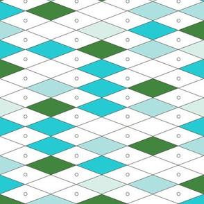 Fremont* (Greens on White) || midcentury modern diamonds texture barkcloth bark cloth vintage Las Vegas atomic harlequin geometric christmas holiday preppy argyle abacus