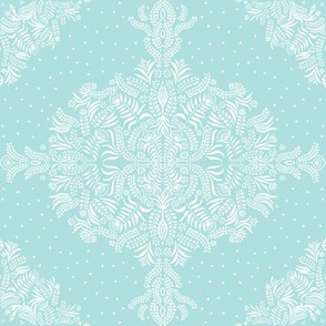 Jungle Flora Damask ShutterBlue