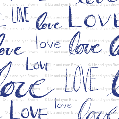 Words of Love // Blue