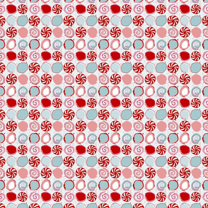 peppermint candy // winter giftwrap xmas holiday christmas fabric
