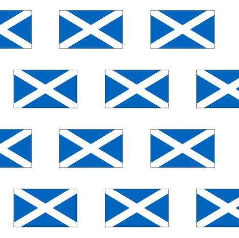 Scottish Flag fabric by thinlinetextiles on Spoonflower - custom fabric