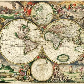 "1689 World Map (42""W)"