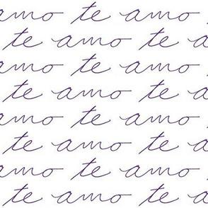 Te Amo // Purple