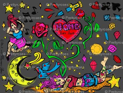 Tattoo Spoonflower Contest Fabric Design