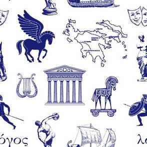 Ancient Greece // Blue // Small