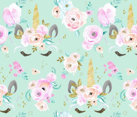 Rrunicorn-floral-minty-blue-green_shop_preview