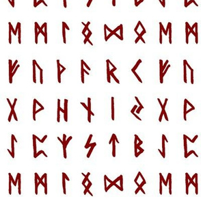 Red Nordic Runes // Small
