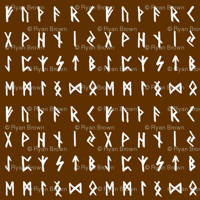 Nordic Runes on Raw Umber // Small