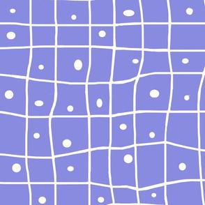 Wonky Grid- violet