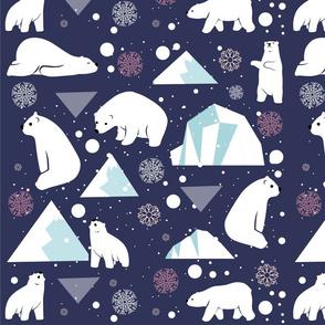"Polar bear beauty 16""x16"""