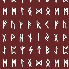 Nordic Runes on Monarch Red // Small