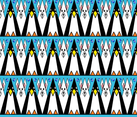 Arctic & Antarctic Geometric Animals fabric by b2b on Spoonflower - custom fabric
