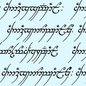 Elvish on Light Blue