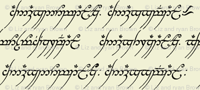 Elvish on Parchment